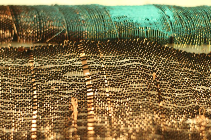 Textile Artist, Elise Vazelakis'  woven steel, copper, brass, acrylic paint and fiber work has been exhibited in New York, San Francisco, Chicago, Dubai and Saudi Arabia. www.elisevazelakis.com
