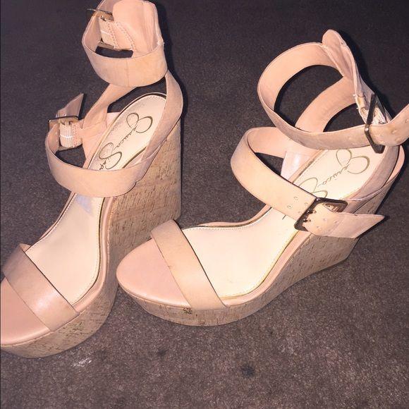 Jessica Simpson beige wedge heels Sexy Jessica Simpson Beige wedge heels! Perfect for any occasion  Shoes Wedges