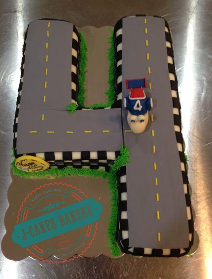 #4 Race track Cake!