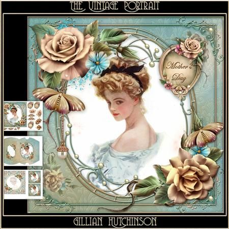 The Vintage Portrait on Craftsuprint designed by Gillian Hutchinson - Simply…
