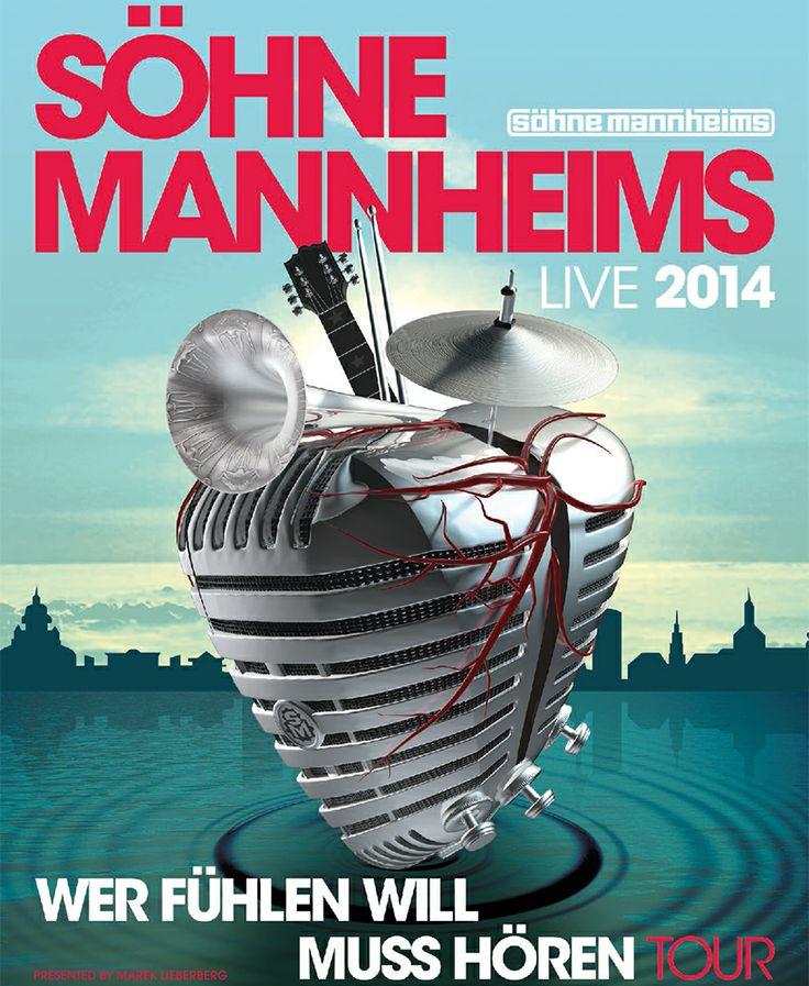 Söhne Mannheims - Wer fühlen will muss hören - Tour 2014 - Tickets unter: www.semmel.de