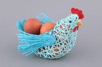 *Плетеная корзинка для яиц КУРИЦА 14*18*7 см