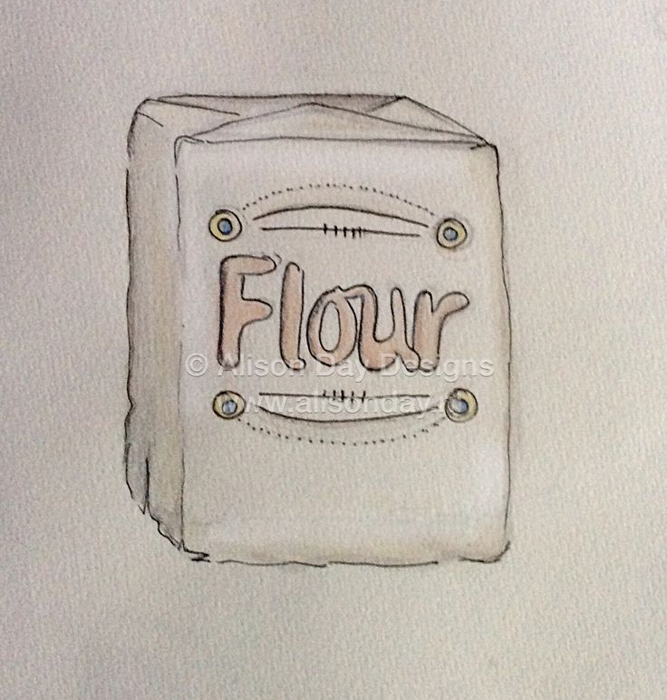 Food illustration - Flour by Alison Day