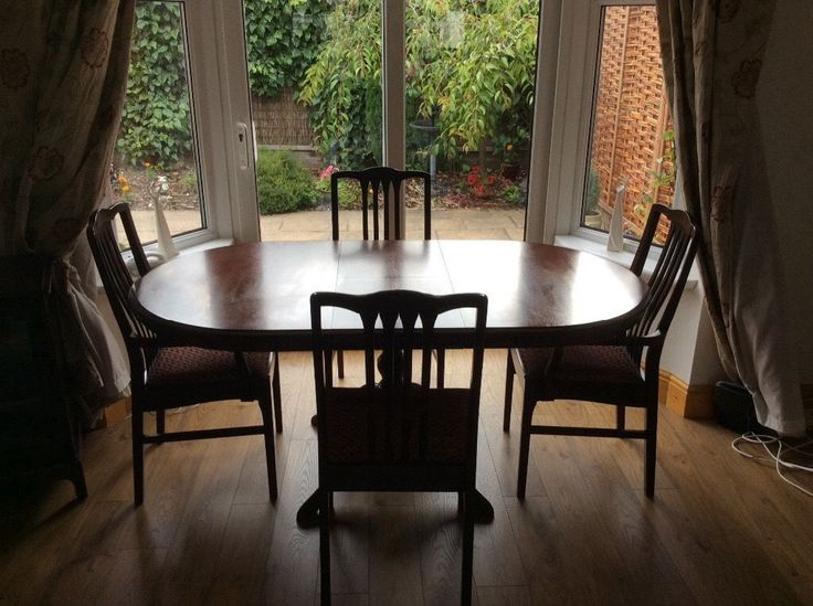 Stag dining table  extendable  with four chairs  two are carver chairs 127 best Dining room images on Pinterest   Dining room  Dining  . Adaline Walnut Extendable Dining Table And 6 Chairs. Home Design Ideas