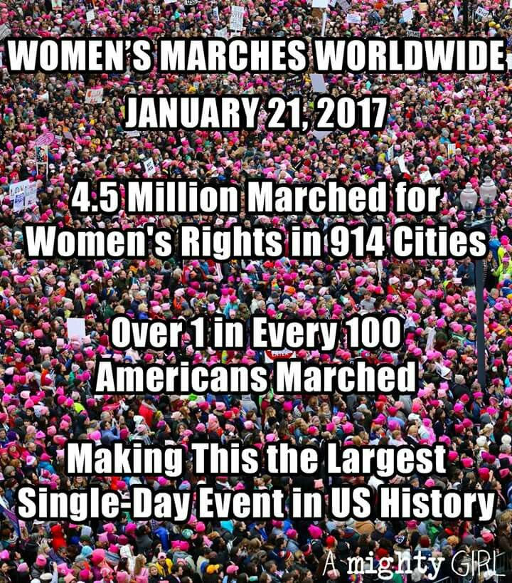 I was at the Seattle march. We hadn't even left the staging area in Judkins Park before the front of the march had already arrived at the end point, City Center, 3.6 miles away. It was AMAZING.