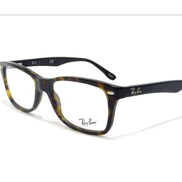 Ray-Ban 5228 Tortoise Eyeglass Frames RB5228 Rayban eyeglass frames, geek meets chic! Comes with original Ray-Ban case and never used cleaning cloth. Eye size: 50-17. Color is tortoise. Ray-Ban Accessories Glasses