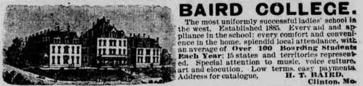 Baird College, Clinton, MO