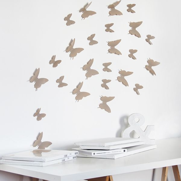 Fancy Schmetterlinge Taupe D Wandtattoo btfl taupe TaupeDeko