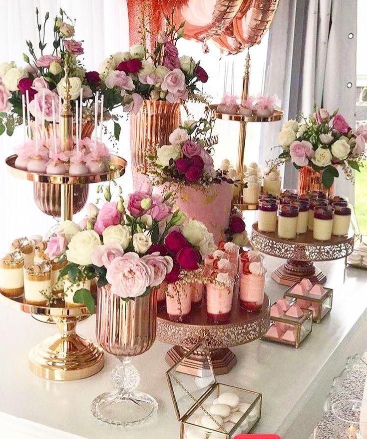 Vintage Bridal Shower Ideas Wedding Dessert Table Wedding Desserts Dessert Table