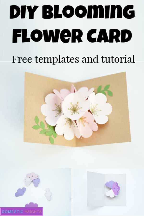 Cricut Pop Up Flower Bouquet Domestic Heights Pop Up Card Templates Pop Up Flower Cards Popup Cards Tutorial