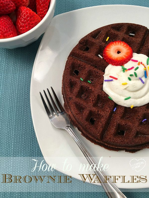 How to make brownie waffles! YES...you can make waffles out of brownie mix using this recipe and they are so fun and amazing! {mixupamoment} {ad}