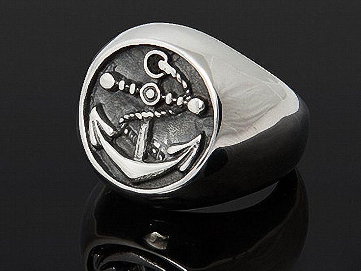 KAPITÄN+-+echt+Edelstahl+Ring+Anker+handbemalt++von+Kleines+Karma+-+Natur+&+Trend+Schmuck,+Ketten+&+Colliers,+Uhren,+Accessoires+und+Geschenke+aus+Berlin+auf+DaWanda.com