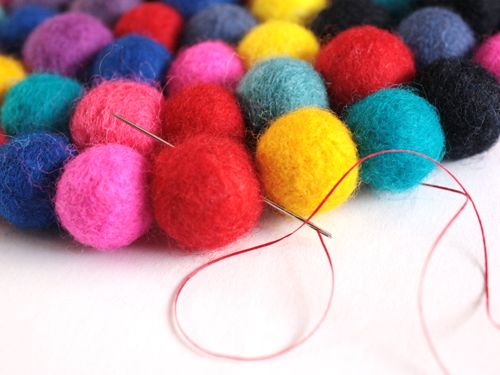 4 Next Start Sewing Each Balls Together Tightly From The