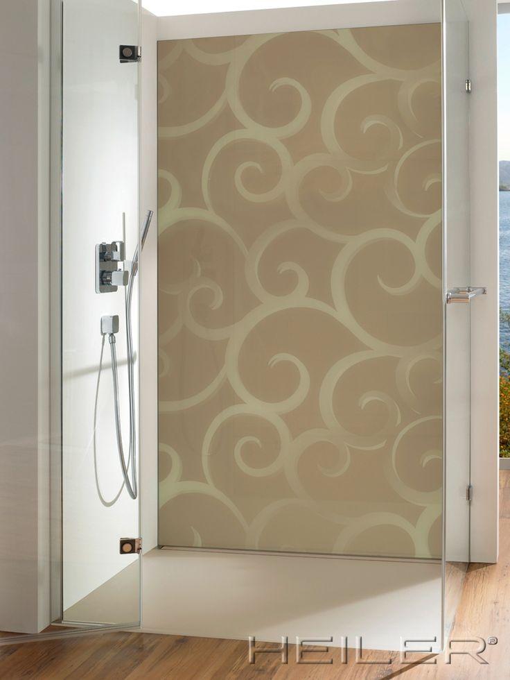 HEILER Glasrückwand mit Motivdruck in der Dusche