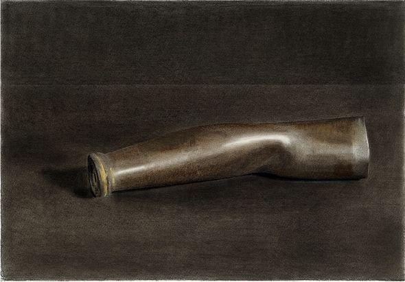 Nick Mourtzakis - Metal Arm, 2007, pencil & graphite on paper, 53 x 73cm