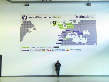 Project: Large format printing Client: Ireland West Airport Knock, Co. Mayo, Ireland.