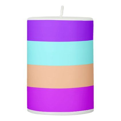 Candles Chic Elegant Modern Colorful Stripes - chic design idea diy elegant beautiful stylish modern exclusive trendy