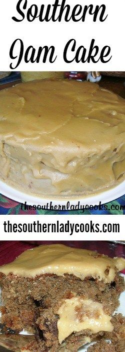 Southern Jam Cake - uses Smuckers Blackberry jam
