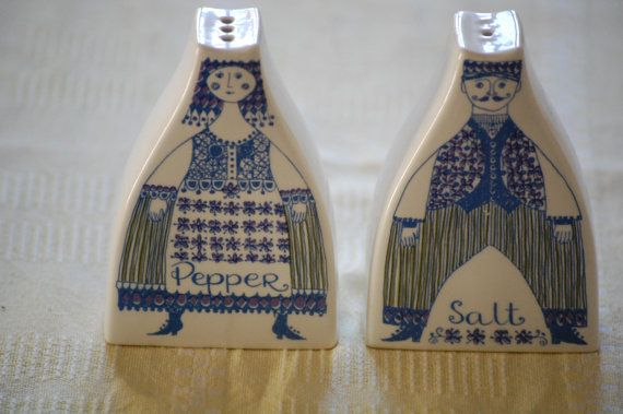 Vintage salt and peber Figgjo Flint Norway Turi by MargithVintage, kr200.00