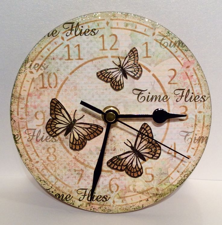 Clock made using Time Flies Stamp set for Create and Craft with Imagination Crafts 2015