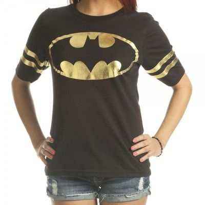 Batman Symbol Foil Football DC Comics Licensed Junior Shirt s XXL | eBay