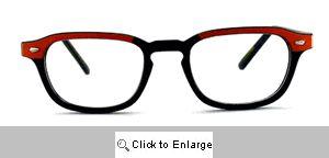 Alex Narrow Wayfarer Reading Glasses - 323 Black/Orange