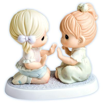 Precious Moments - Having A Sister Is Always Having A Friend - Sisters Playing Patty-Cake Figurine. Item# 640031