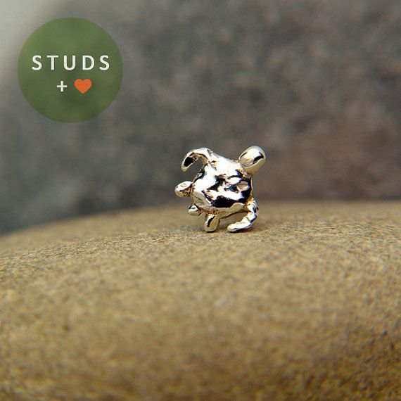 CARTILAGE sea Turtle sterling silver 6mm/ cartilage earring tragus gold tragus earring cartilage gold cartilage ring nose studs on Etsy, $15.95