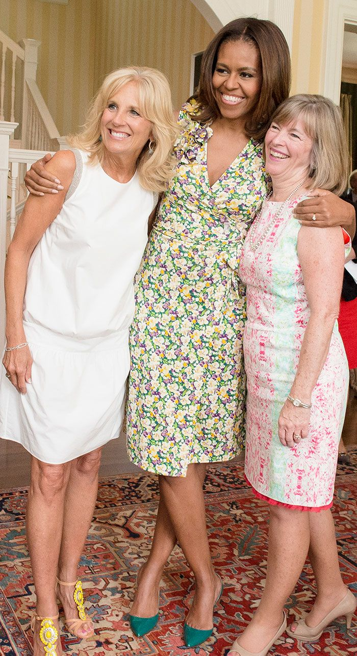 The First Lady  Deanie Dempsey joined Dr. Biden yesterday at the Vice President's residence to thank senior military spouses.