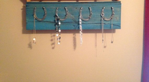 Horseshoe necklace holder by BikesandCoffee on Etsy