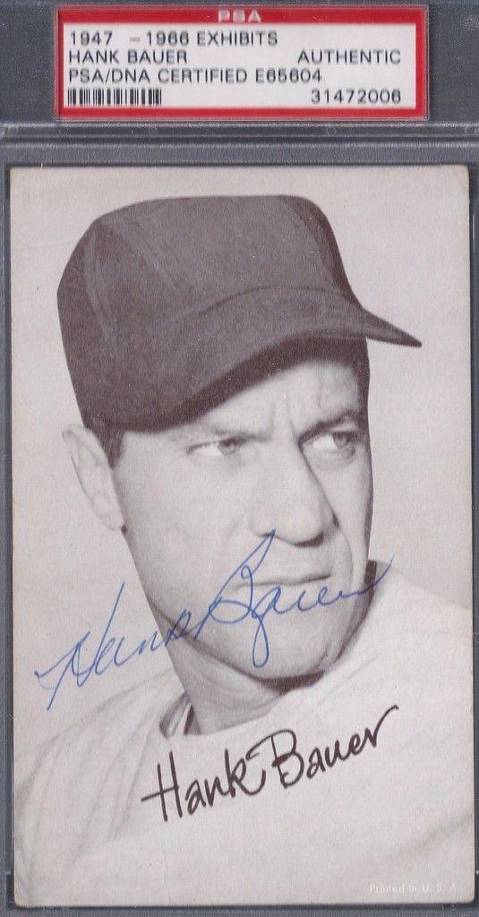 early Exhibit Hank Bauer autograph