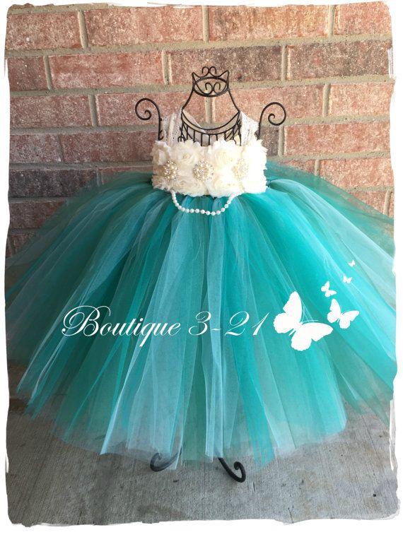 Flor chica vestido de Jade Jade vestido verde por Boutique321
