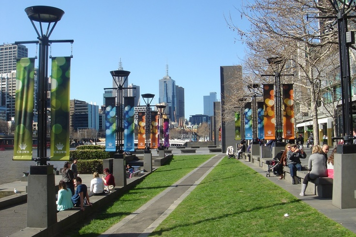 Crown Casino by the Yarra River - Melbourne
