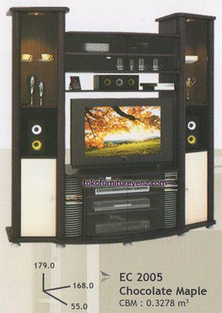 Lemari Televisi Minimalis EC 2005 Pro Design ukuran : 168 x 55 x 179 cm warna Beech / Choco Maple / Walnut - See more at: http://www.tokofurnitureyenz.com/product/lemari-televisi-minimalis-ec-2005-pro-design/