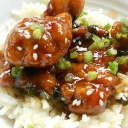 """General Tsao's Chicken   """"this is simply the best Chinese chicken you will ever have. With a flair of peanut oil, a streak of sesame, a  dash of orange, and a sweet spot for hot, this is sure to be a favorite. Just don't forget to deep-fry twice!  Serve with steamed broccoli and white rice."""""""