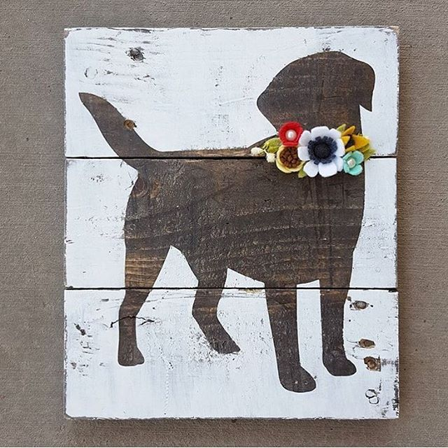 Once upon a time I threw out an idea for a dog silhouette to @maeflowersigns and…