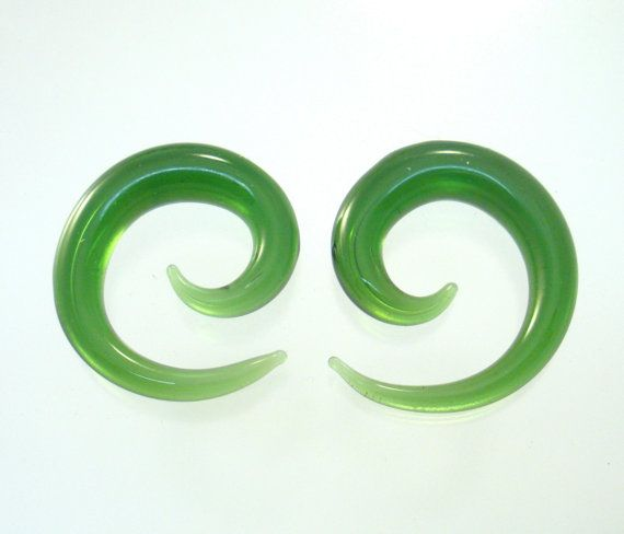 SPIRAL Earrings Shape Plugs Gauges for Ears 100% Hard Glass pyrex