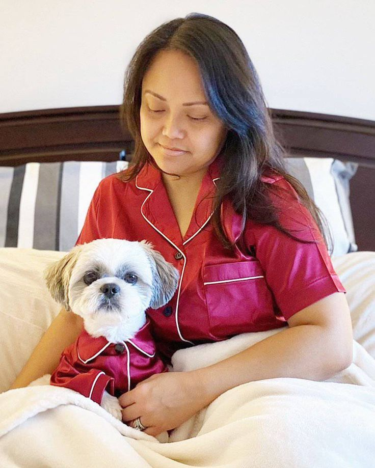 Our matching satin pyjama set in ruby red are made for both pets and humans. This set has our classic white trim piping and black buttons. Satin Pyjama Set, Satin Pajamas, Pajama Set, Loki, Satin Rouge, Red Silk, White Trim, Black Button, Ruby Red