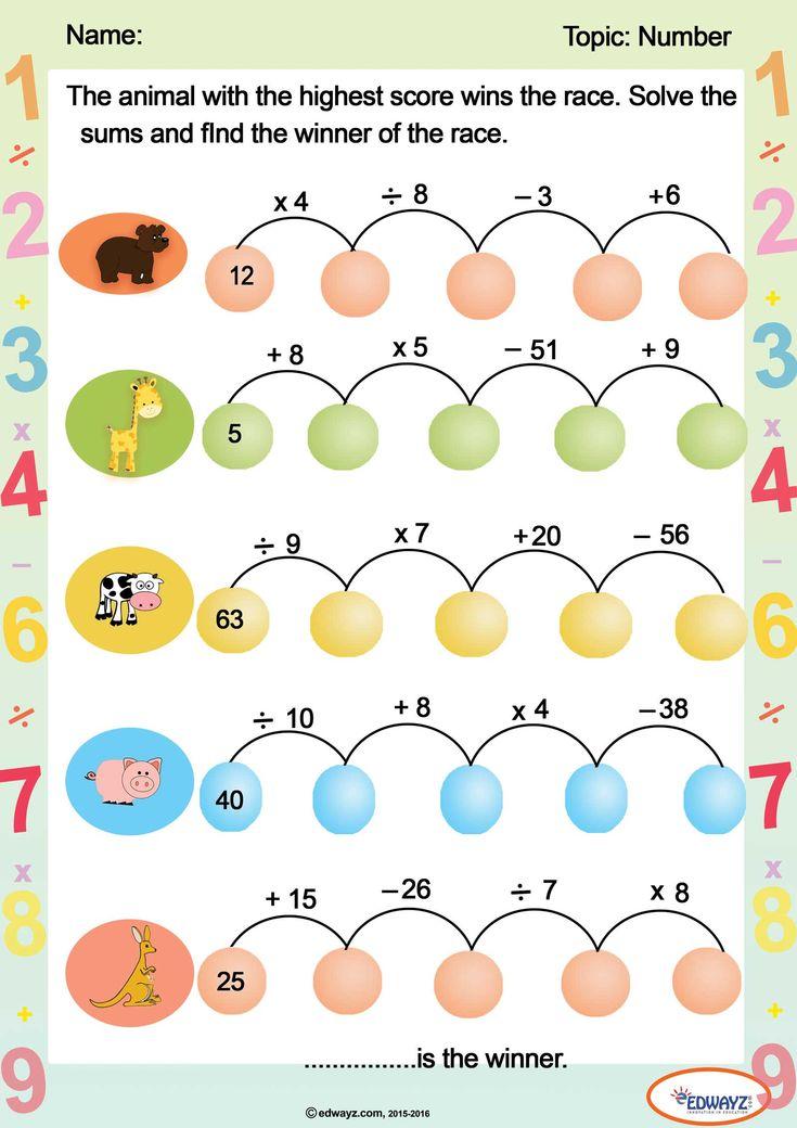 Edwayz Math Worksheet Learning Math Math Mental Math