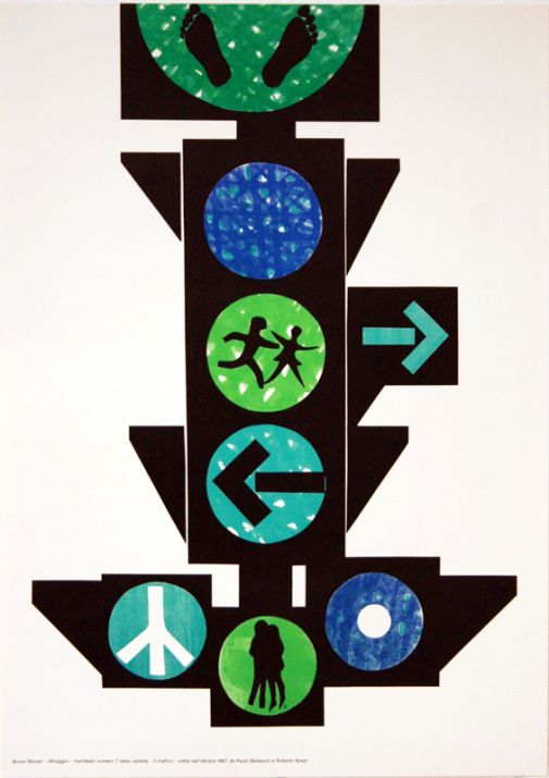 Progetto grafico del manifesto Bruno Munari, (1907-1998).