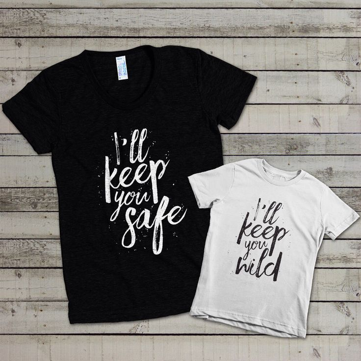 Mommys Ill Keep You Safe Mommy And Me Shirt Set De