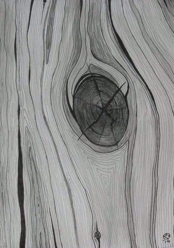 A KNOT IN THE WOOD