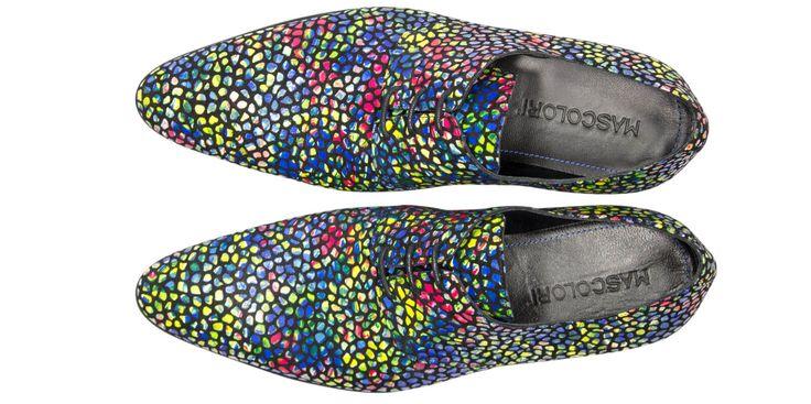 Jelly Beans vrolijke leren schoen van Mascolori  Description: Buitenkant: leer Binnenkant: leer Binnenzool: leer Zool: rubber doorgestikt Breedtemaat: G/H (gemiddeld)  Price: 159.00  Meer informatie  #Mascolori
