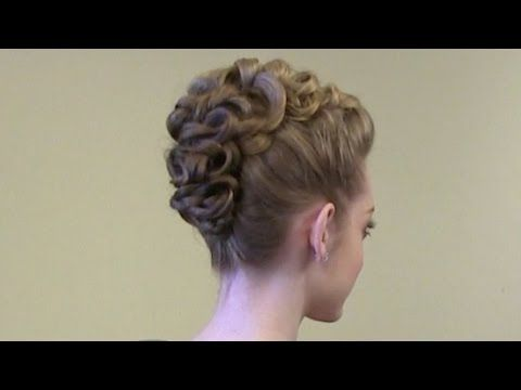 Tutorial: How to Create a Faux Hawk Knotted Braid Updo - YouTube