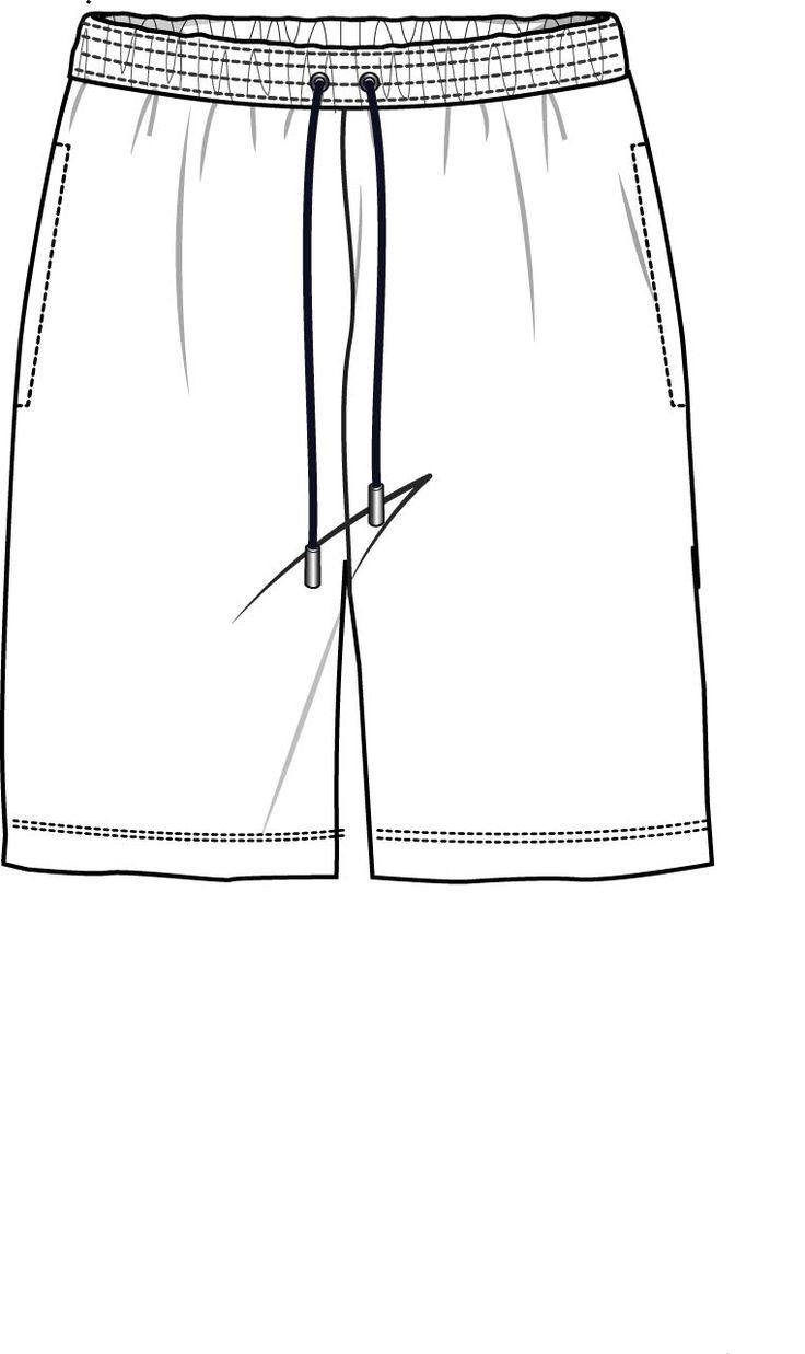 рисунок шорты сзади