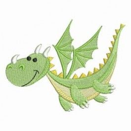 Breathe a little warmth into cuddly clothes for kids with this set of adorable dragon designs.