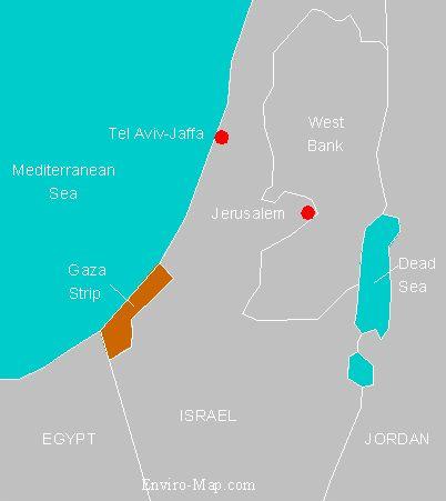 Gaza strip location
