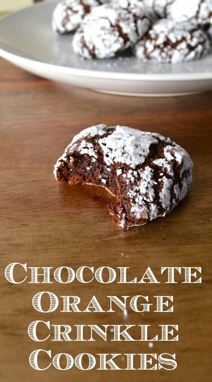 Chocolate Orange Crinkle Cookies!  So easy, fudgey and oh so delicious!