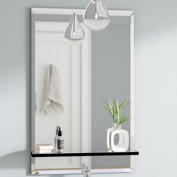Brizendine Bathroom Vanity Mirror Mirror With Shelf Vanity Wall