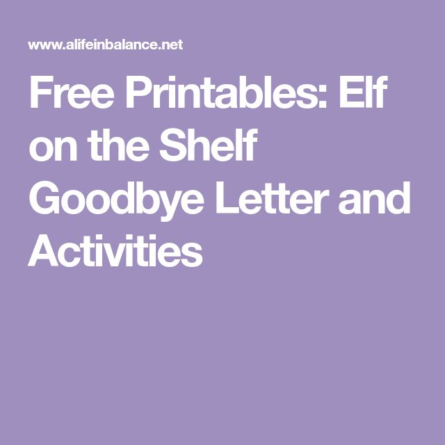 Best 25+ Goodbye letter from elf ideas on Pinterest Letter from - goodbye letter